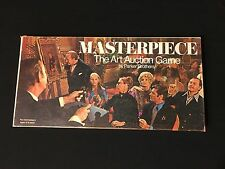 Masterpiece The Art Auction Game - Parker Bros.1970 Includes Orig Box, Rare Find