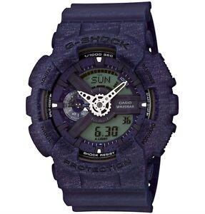 Casio G Shock *GA110HT-2A Gshock Watch Anadigi Heathered Blue XL COD PayPal