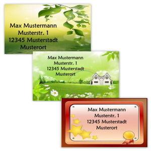 40-Adressetiketten-Adressaufkleber-oder-10-Visitenkarten-Motiv-034-Sonstiges-034