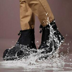 Non Slip Rainproof Pvc Shoe Covers Rain Footwear Cover Slip Resistant Pule Black by Unbranded