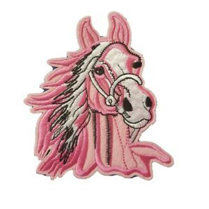 Large-Pink-Horse-Iron-On-Patch-Sew-On-Transfer-Pink-Horse
