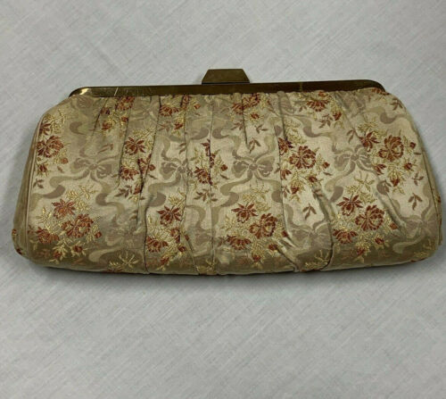 CHARLES S. KAHN Silk Embroidered Floral Handbag En
