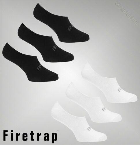 3 Pack Donna Di Marca Firetrap Casual Low Cut Calzini Invisibili morbido misura 4-8