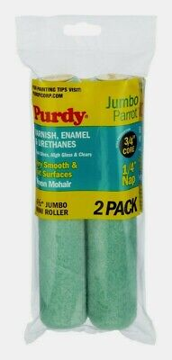 W 2 pk Purdy  Parrot  Woven Mohair  Paint Roller Cover  1//4 in L x 4-1//2 in