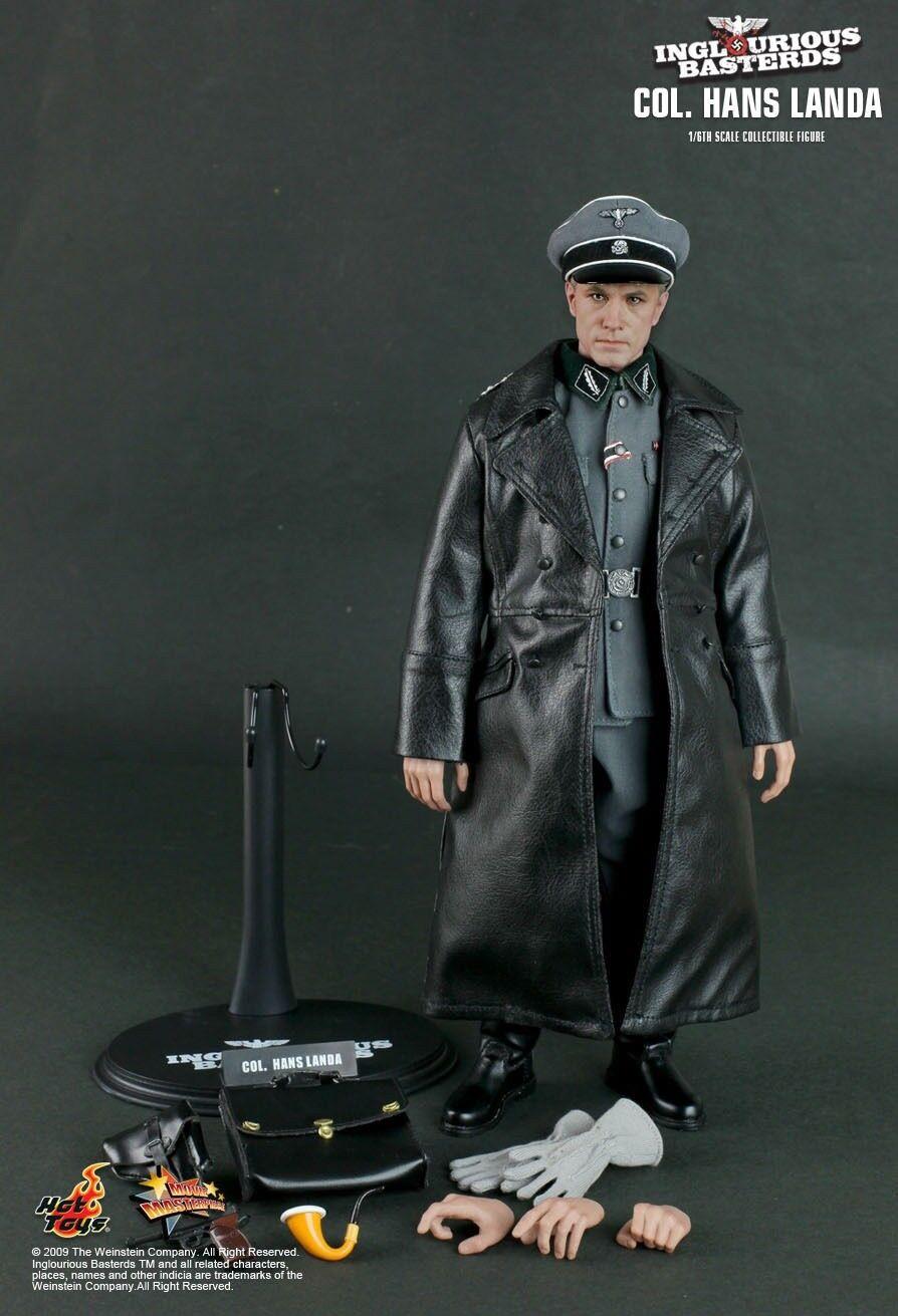 "1 6 Scale 12"" Hot Toys MMS134 Inglourious Basterds Hans Landa Waltz Figure Rare"