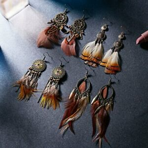 Women-Charm-Bohemia-Vintage-Dreamcatcher-Drop-Dangle-Hook-Earrings-Jewelry-Gift