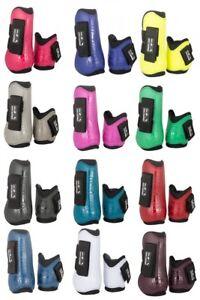 Springgamaschen-und-Streichkappen-4er-Set-HKM-verschiedene-Farben-NEU