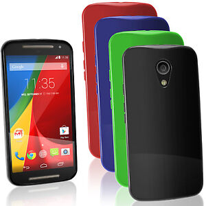 lowest price 9f23e 69784 Details about Glossy TPU Gel Case for Motorola Moto G 2nd Gen XT1068 Skin  Cover + Screen Prot
