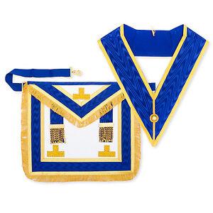 Lambskin-Masonic-Craft-Provincial-Full-Dress-Apron-with-Levels-amp-Collar-Regalia