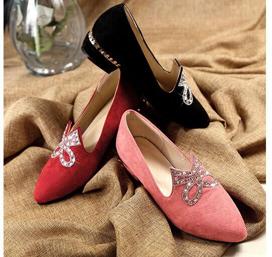 Bailarinas mocasines zapatos de mujer mujer mujer pan de la tierra talón 3 cm strass cómodo  la mejor selección de