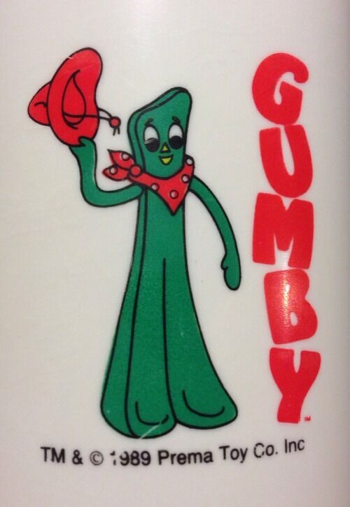 Gumby Thermos Prema Toy Co. Inc ModelLunch Box Rare Vintage 1989