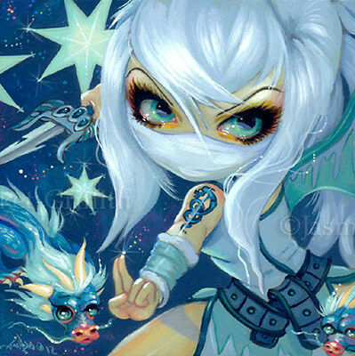 Fairy Face 187 Jasmine Becket-Griffith Taki Ice Japanese Ninja SIGNED 6x6 PRINT
