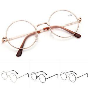 34fbcc56b6d8 New Clear Lens Metal Eyewear Round Full Frame Eyeglasses Retro ...