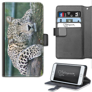 HAIRYWORM-BIG-LEOPARD-SPOT-CAT-LEATHER-WALLET-PHONE-CASE-FLIP-CASE-PHONE-COVER