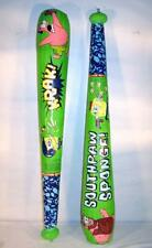 2 SPONGEBOB INFLATEABLE BASEBALL BATS toy bat inflate 42 INCH inflate novelty