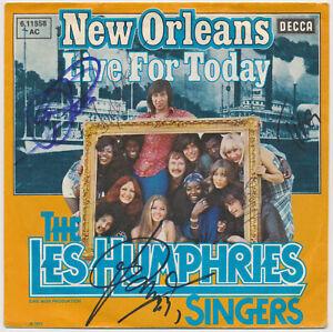 LES-HUMPHRIES-SINGERS-New-Orleans-7-034-Single-Coverhuelle-5fach-SIGNIERT