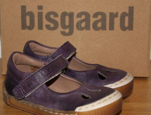 Bisgaard Girls Purple Leather Shoes Various Sizes BNIB