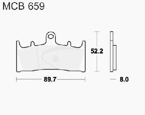 TRW MCB752SV Pastillas de Frenos