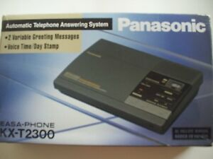 Panasonic-Answering-Machine-Micro-Cassette-holds-2-Tapes-EASA-Phone-KX-T2300