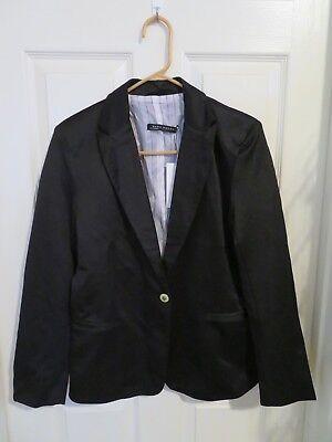 Neuf Zara Femme Simple Bouton Blazer Solide Noir Doublé Suit