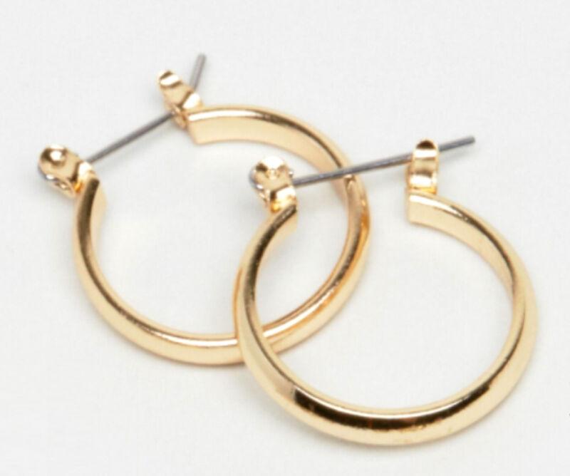 20mm Hoop Earrings Gold Tone