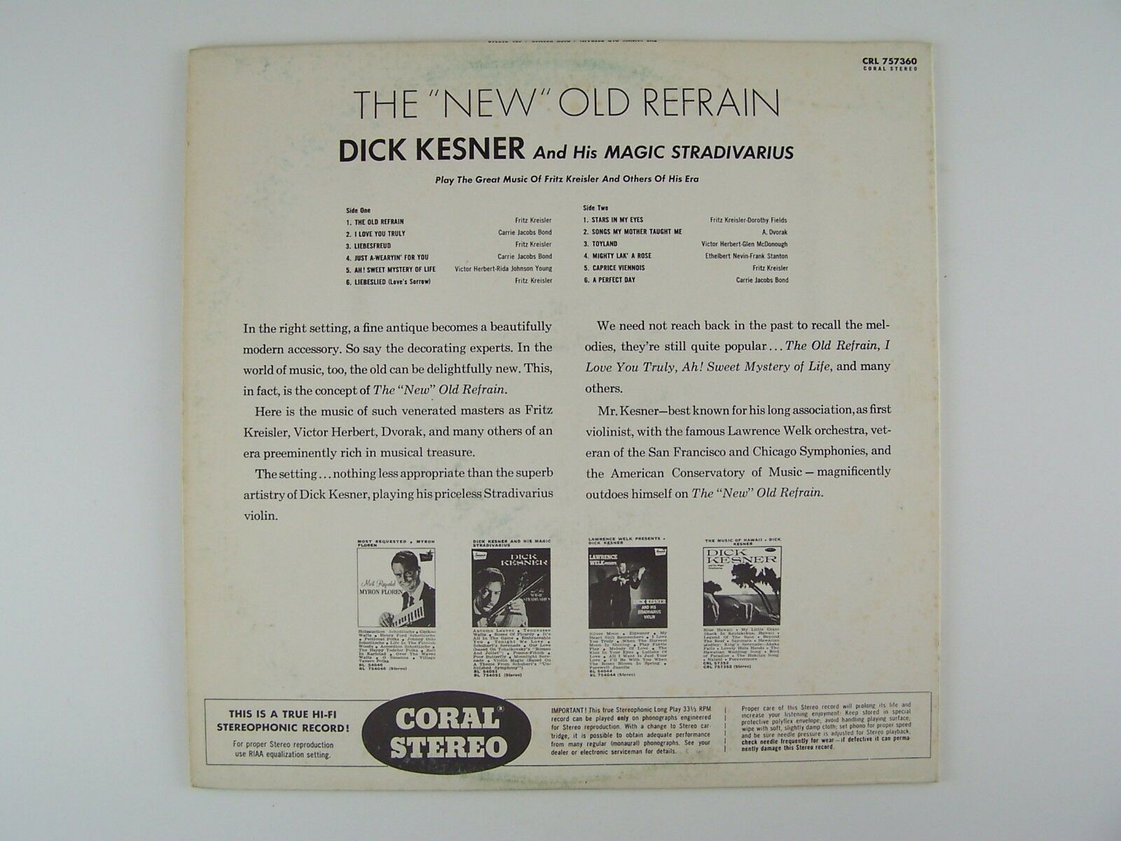Dick Kesner & His Magic Stradivarius And Orchestra - Th