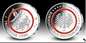 5-Euro-Gedenkmuenze-Tropische-Zone-Deutschland-2017-G-in-Kapsel-u-Tasche