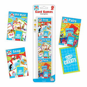 3-PACKS-OF-CHILDRENS-ASSORTED-CLASSIC-CARD-TRAVEL-GAMES-SNAP-PAIRS-OLD-MAID-CARG