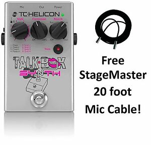 NEW TC Helicon Guitar Talkbox Synth Pedal