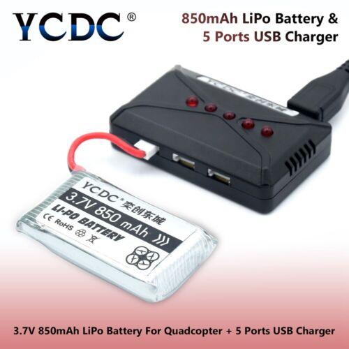 3.7V 500MAH 850MAH BACKUP BATTERY FOR RC QUADCOPTER DRONE SYMA X5SW X5SC-1 B552