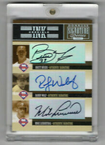 Phillies: Myers, Mike Lieberthal, Wolf AUTOGRAPHED 2005 Donruss Signature Series