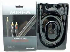 Audioquest Mini-A 3.5mm to RCA iPod Audio Interconnect Cable 1 meter