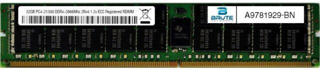 A9781929 - Dell Compatible 32GB PC4-21300 DDR4-2666Mhz 2Rx4 1.2v ECC RDIMM