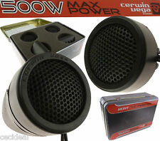 Cerwin Vega 500 Watt  Car Stereo Door Speakers Dash Super Tweeters XED1T Limited