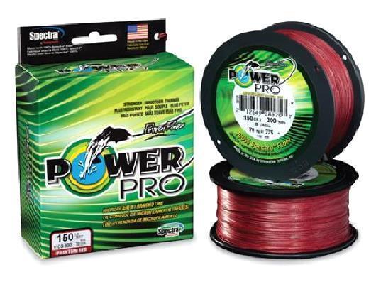 Power  Pro Spectra Trenza Bermellón Rojo, 100 lb 500 yardas, nuevo  hasta 60% de descuento