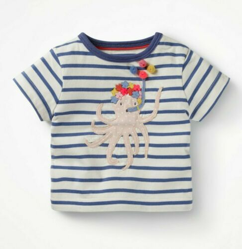 Baby Girls T-Shirt Boden 0m-4y Top Dino Mouse Bird Applique Ex Baby Mini Boden