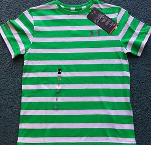 NWT Under Armour L Boys Green/White Striped Charged Cotton Shirt ...