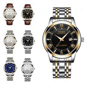 Men-039-s-Fashion-Luxury-Watch-Stainless-Steel-Band-Sport-Analog-Quartz-Wristwatches