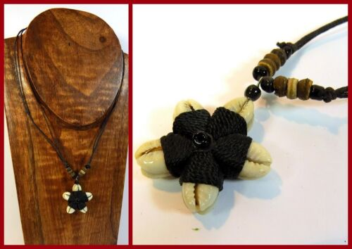 Bonitos collar de estilo surfista concha collar flor Lilli unisex hippie Beach nuevo!
