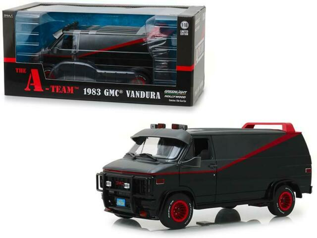1:18 The A-Team 1983 GMC Vandura Van Black  #13521 Greenlight Diecast Model