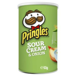 Pringles Sour Cream & Onion Stacked Potato Wheat-Based Crisp Snack Chips 53g