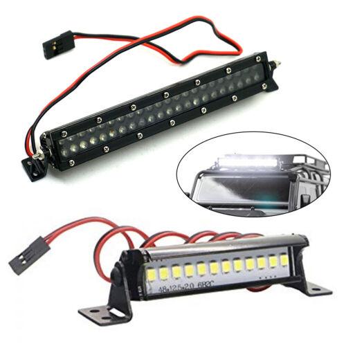US 12 44 LED Metal Roof Rack Light Bar For SCX10 D90 TRX4 1//10 RC Car Crawler