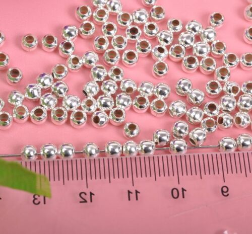 500pcs Tibetan Silver Shaped Spacers Charms Beads  4MM
