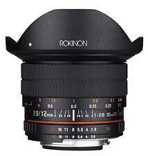 Rokinon 12mm F2.8 Ultra Wide Fisheye Lens for Canon EOS EF DSLR Cameras - Ful...