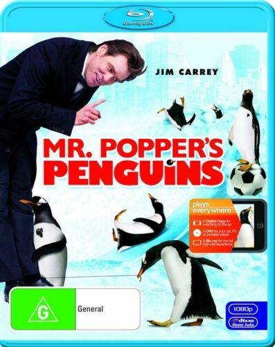 1 of 1 - Mr. Popper's Penguins (Blu-ray, 2011, 2-Disc Set), NEW & SEALED, REGION B AU