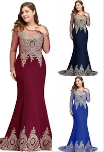 Evening-Long-Prom-Dresses-Formal-Party-Mermaid-Gown-Bridesmaid-Gown-Plus-Size