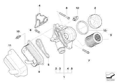 BMW Oil Filter Housing gasket E81 E82 E87 125i 130i E90 E91 E92 E93 11427537293