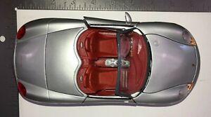 Maisto-Porsche-Boxster-Plata-Diecast-Modelo-Coche-Escala-1-18