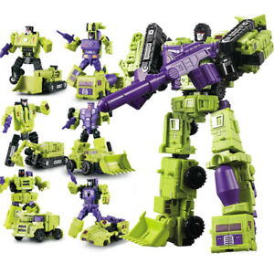 Construction-Vehicles-Engineering-Truck-Robot-Combiner-Devastator-Action-Figure