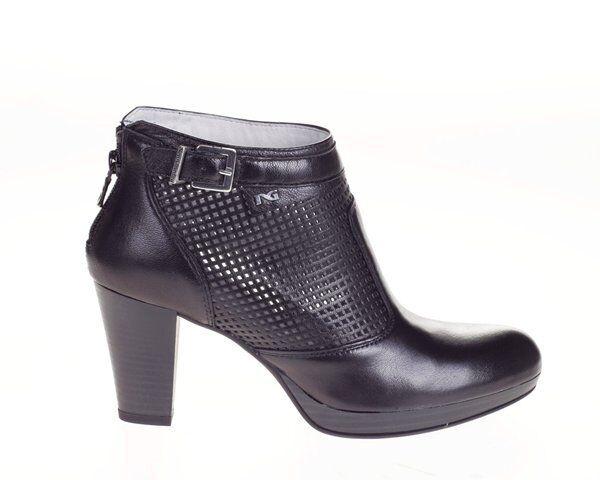 vendita calda Tronchetto scarpa pelle donna nero 615020 NERO GIARDINI GIARDINI GIARDINI 40 41 saldi  vendita online risparmia il 70%